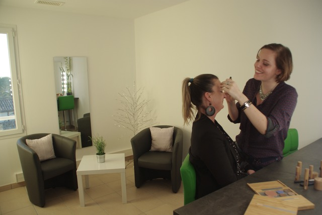 Maquillage relooking avec Audrey ROSSI